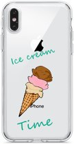 Apple Iphone 6 Plus / 6S Plus Transparant siliconen hoesje (Ice Cream Time)