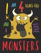 I Am 4 Years-Old and I Love Monsters: The Monster Colouring Book for Four-Year-Olds Who Love Colouring Monsters