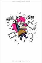 Notizbuch: Gamer Girl Cosplay Anime Manga Kawaii Geschenk 120 Seiten, 6X9 (Ca. A5), Punktraster