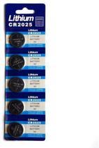 Knoopcel batterij CR2025 - 5 stuks
