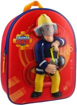 Brandweerman Sam To The Rescue 3D Rugzak - Rood