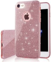 Luxueuze Glitter Hoesje - iPhone 6 6S - Roze - Bling Bling cover - TPU case
