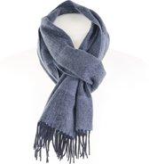 Wollen Sjaal- Blauw - Lichtblauw - Heren Shawl - Geblokt