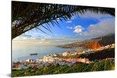 Foto vanaf Punta del Hidalgo van Santa Cruz Aluminium 90x60 cm - Foto print op Aluminium (metaal wanddecoratie)