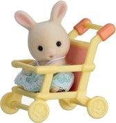 Sylvanian Families 5200 Baby Draagdoosje (Konijn In Wandelwagen) - Speelfigurenset