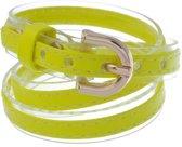 Armbandje van imitatieleer in de vorm van een riem