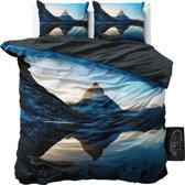 Sleeptime Mountains - Dekbedovertrekset - Lits-Jumeaux - 240x200/220 + 2 kussenslopen 60x70 - Blauw