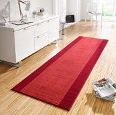 Design loper Band - rood 80x400 cm