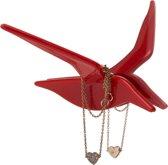 Fly By sieraden haakjes rood