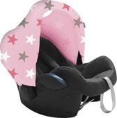 Dooky Hoody Zonnekap autostoel - Roze sterren