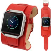 WideFlex Eco Leer Armband voor Fitbit Blaze - Rood