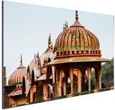 Galtaji Tempel India Aluminium 90x60 cm - Foto print op Aluminium (metaal wanddecoratie)
