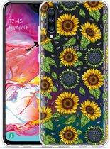 Galaxy A70 Hoesje Sunflowers