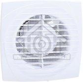 Ventilator, met timer, axiaal 100, wit, o.a. voor badkamer, toilet of keuken