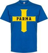 Parma Cross T-Shirt - Blauw - XXXL