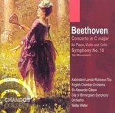 Beethoven: Triple Concerto, Symphony no 10 / Sir Alexander Gibson et al
