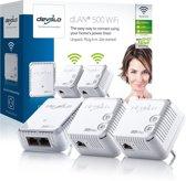 devolo dLAN 500 WiFi Powerline - 3 Stuks - NL