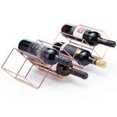 Bar@ Wijnrek koper voor 7 flessen