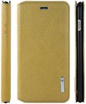 Pierre Cardin Book Case Geel - Stijlvol - Leer - iPhone 6/6S Plus  - Luxe cover