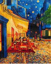Diamond Dotz ® painting Cafe at Night, Van Gogh (52x42 cm)