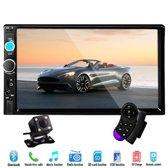 2-DIN Autoradio - 7 Inch HD Scherm - Dubbel Din - Bluetooth - Autoradio - AUX - USB - Handsfree Bellen
