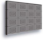 Dimensions Black White Canvas Print 100cm x 75cm