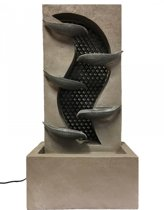 Waterornament Dubai - Polystone - Beige-Grijs - 70,5cm