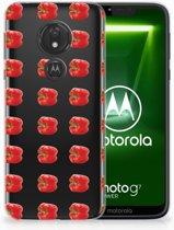 Motorola Moto G7 Power TPU Hoesje Design Paprika Red