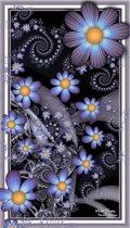 Diamond painting - night flowers - 30x48 cm