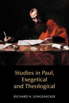 Studies in Paul, Exegetical and Theological