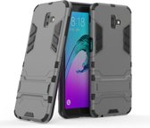 Armor Kickstand Samsung Galaxy J6 Plus Hoesje - Grijs