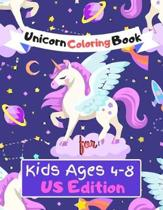 Unicorn Coloring Book for Kids Ages (4-8) US Edition: Featuring Various Unicorn Designs Filled with Stress Relieving Patterns - Lovely Coloring Book D