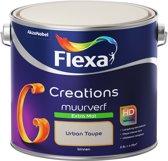 Flexa Creations - Muurverf Extra Mat - Urban Taupe - 2,5 liter