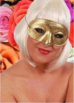 Glitter oogmasker goudkleurig