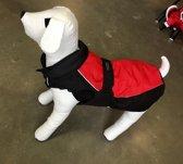 Hondenjas Akira Zwart-Rood Waterproof 35cm
