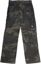 Uncle Sam WORKWEAR Werkbroek met cargozak en hamerlus olijfgroen camouflage maat 54