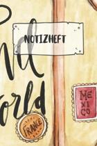 Notizheft: Liniertes Reisetagebuch Notizbuch oder Reise Notizheft liniert - Reisen Journal f�r M�nner und Frauen mit Linien