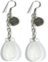 Heaven Eleven - oorbel - melk quartz drop