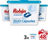 Robijn Stralend Wit Duo wasmiddel capsules - 48 wasbeurten - 3 x 16 stuks