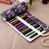 Premium Canvas Roletui Leeg - Voor 72 Potloden / Pennen Etui