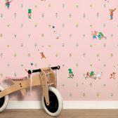 KEK Amsterdam Kikker behang roze