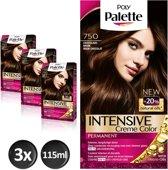 Poly Palette 750 Chocoladebruin Haarverf - 3 stuks - Voordeelverpakking