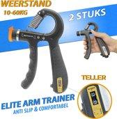 Handknijper met Teller | 2 STUKS | Knijphalter | Handgripper | Hand training| Onderarm Trainer | 10-60kg | Kracht & Revalidatie