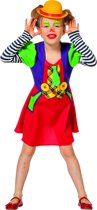Clown & Nar Kostuum | Grappige Brutale Circus Clown | Meisje | Maat 116 | Carnaval kostuum | Verkleedkleding