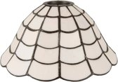 Lampenkap Tiffany ø 24*12 cm Wit | 5LL-5935 | Clayre & Eef