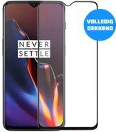 OnePlus 6T Glazen Screenprotector (VOLLEDIG DEKKEND) (ZWART) | Tempered glass | Gehard glas
