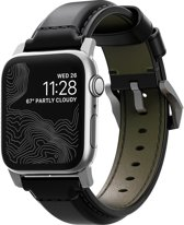 Nomad Strap - Cordovan - voor Apple Watch 44 & 42mm - Zilver