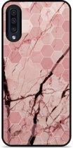 Galaxy A30s Hardcase hoesje Pink Marble
