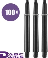 ABC Darts Shafts - Kunststof Zwart - Medium - 100 sets