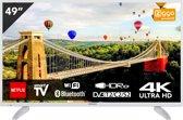 Hitachi 49HK6003W Televisie Wit ULTRA HD 4K – Smart TV met bluetooth en wifi